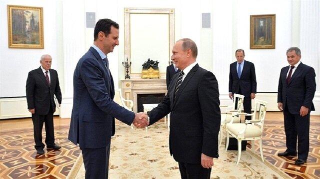 Esed Putin'le görüştü