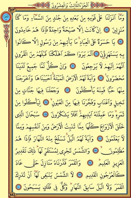 Yasin Suresi 3 .sayfa