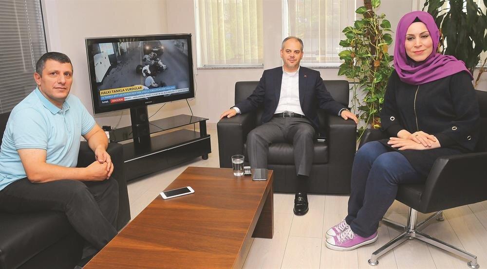 Akif Çağatay Kılıç gazetemizin Ankara Bürosu'nu ziyaret etti.