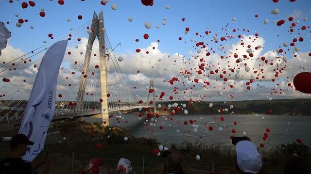 Yavuz Sultan Selim Köprüsü'nün açılışından tarihi kareler