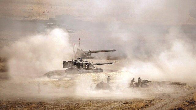 YPG'nin 21 hedefine 108 top atışı