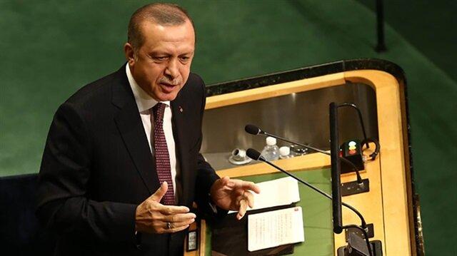 Fotoğraflarla Erdoğan'ın tarihi BM konuşması