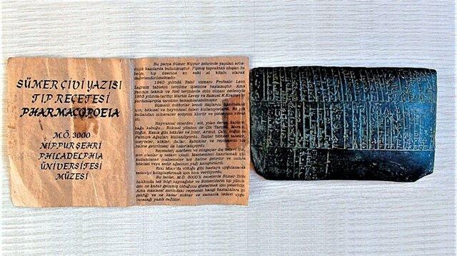 Sümerlerin 5 bin yıllık tıp reçetesi bulundu