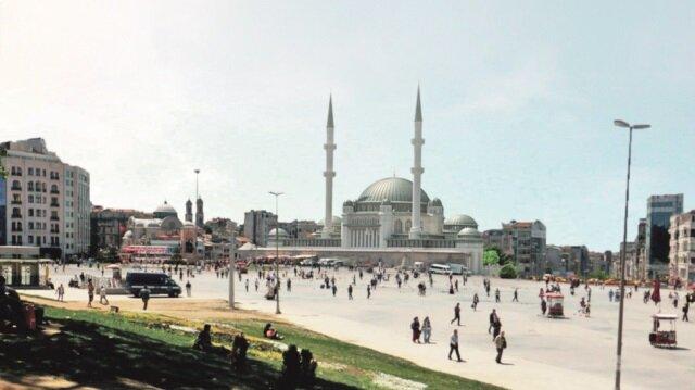 İşte Taksim camii
