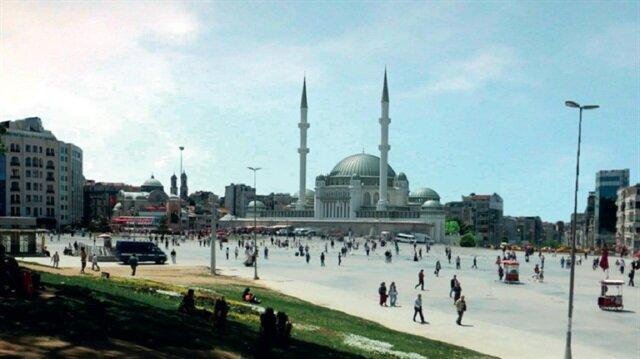 İşte Taksim'e yapılacak cami