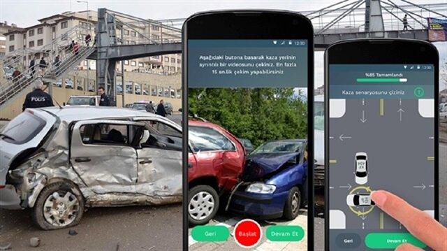 Trafikte çileye son: Kaza tutanakları mobil uygulama ile halledilecek