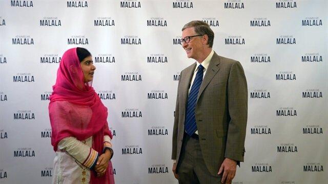 Malala'yı ilk karşılayan Bill Gates oldu: Bana ilham vermeye devam et