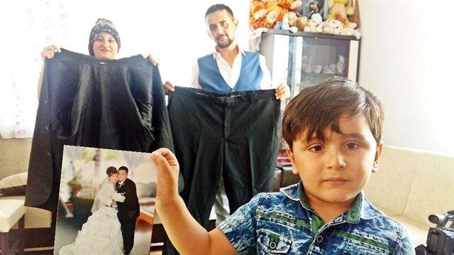 240 kilo olan baba, oğlu için 143 kilo verdi