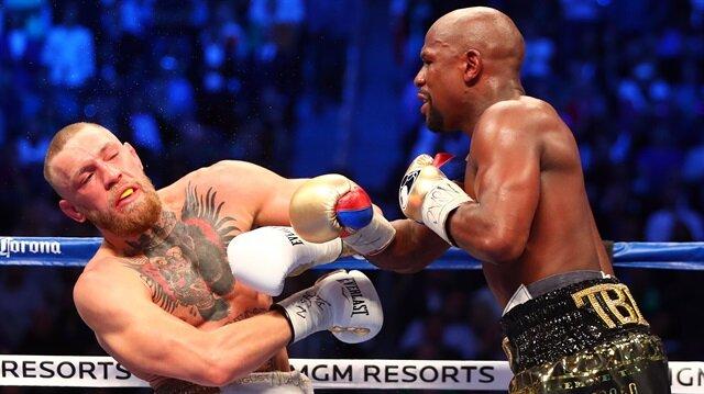 Floyd Mayweather ile Conor McGregor maçında önemli kareler