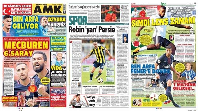 Basın Turu: Günün öne çıkan 14 spor manşeti