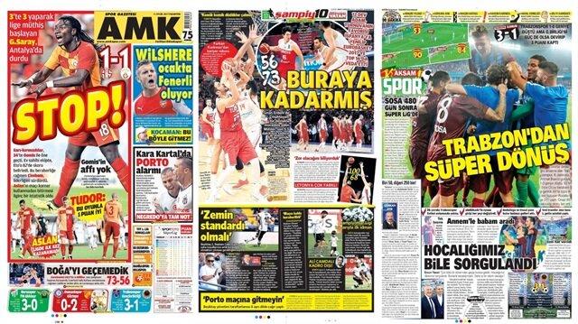 Basın Turu: Günün öne çıkan 70 spor manşeti