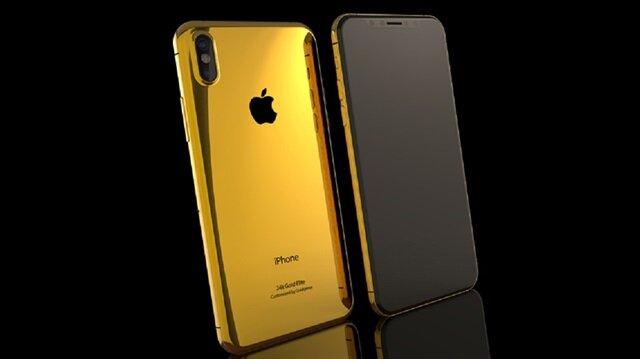 İşte karşınızda altın kaplama iPhone X!