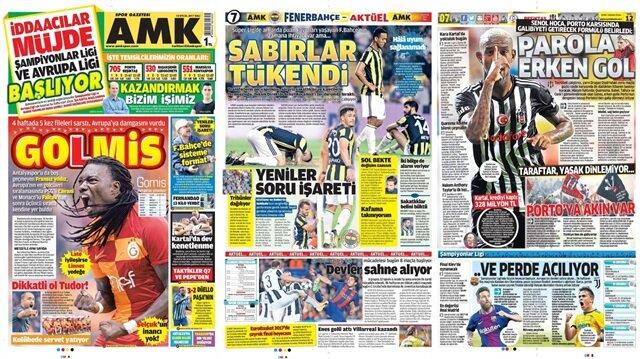 Basın Turu: Günün öne çıkan 34 spor manşeti