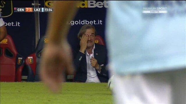 2 gol atınca baba oğul karşılıklı ağladılar
