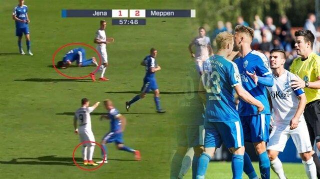 Almanya'da skandal gol: Bir gol için bu ayıp yapılır mı?