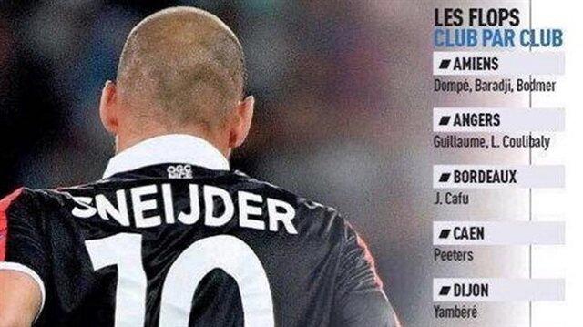 Fransız basını: Sneijder tam bir fiyasko!