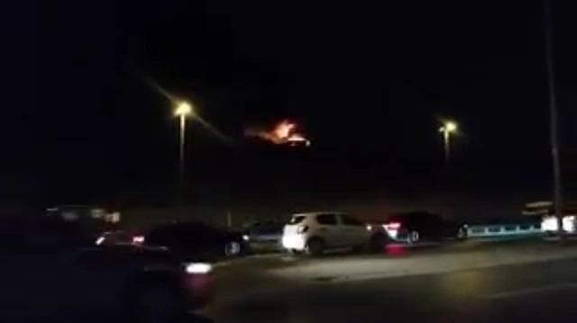 İşte yanan uçaktan ilk görüntüler