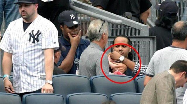 Beyzbol maçında 120 km hızla giden top küçük bir kızın yüzünde patladı