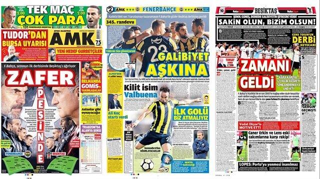 Basın Turu: Fenerbahçe-Beşiktaş derbisinin sabahında mutlaka görmeniz gereken 29 manşet!