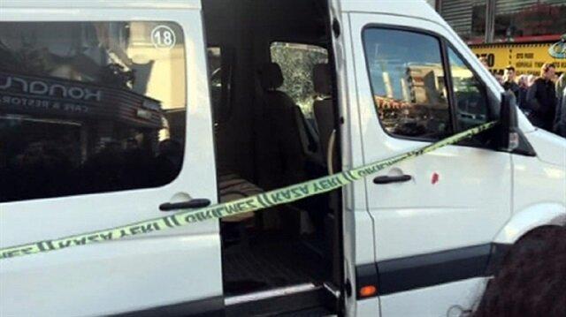 Kağıthane'de servis sürücüsüne silahlı saldırı