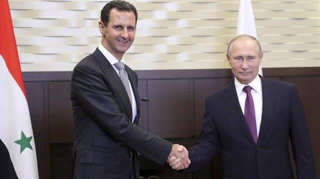 Putin ile Esed görüştü
