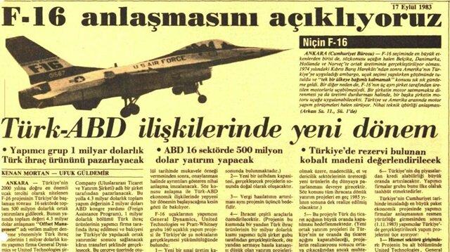 80'li yılların Türk dış politikasını yansıtan manşetler