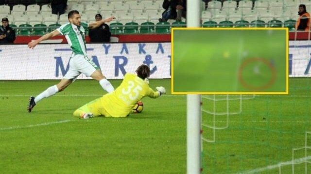 Konyaspor-Karabükspor maçında skandal hata