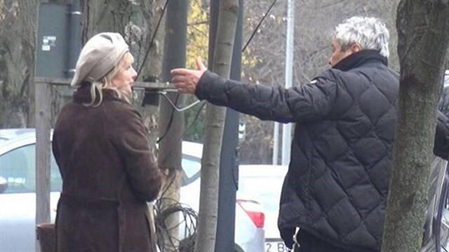 Lucescu sokak ortasında eşiyle tartıştı!