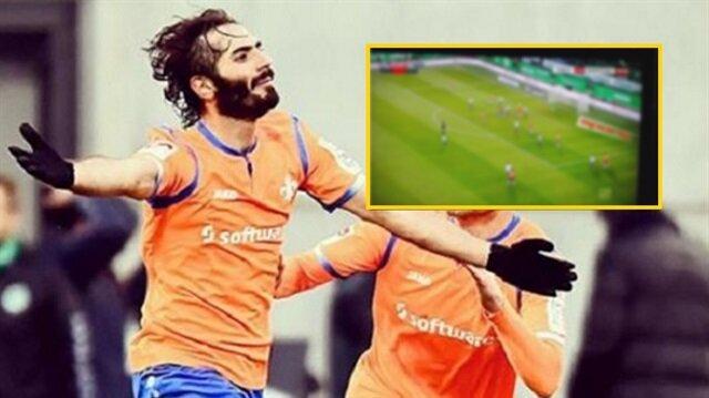 Hamit Altıntop'tan son saniyede inanılmaz gol: Almanya'yı salladı