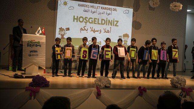 Suriyeli yetimlerden Türkçe Okuma Bayramı