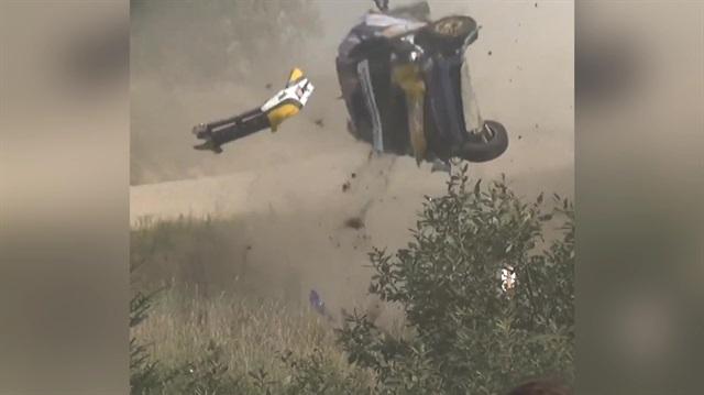 Otomobil yarışında feci kaza kamerada