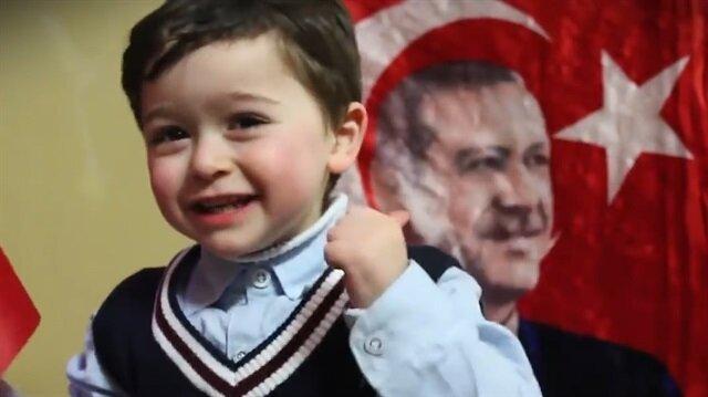 Filistinli küçük Ziyaddan liderlere Erdoğan çağrısı