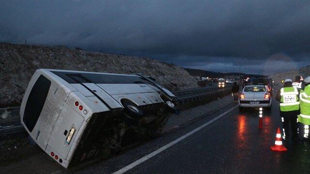 Beşiktaş'ta korkutan olay: Taraftar otobüsü kaza yaptı!