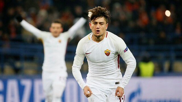 Cengiz Ünder gol atınca Romalı futbolcular böyle bağırdı!