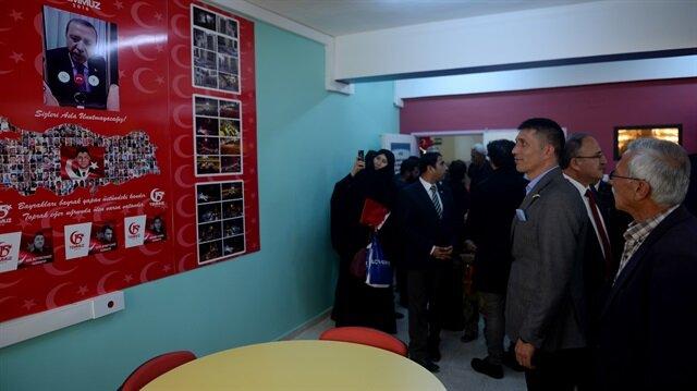 Kütüphane ve 15 Temmuz Demokrasi Köşesi'nin açılışı yapıldı