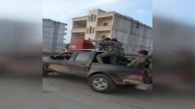 Bordo bereli Türk askeri Afrin merkezine böyle girdi
