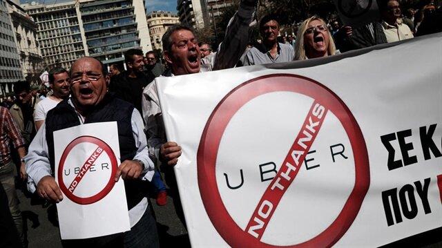 Avrupa'nın Uber'le mücadelesi en az Türkiye kadar şiddetli: Atina'yı savaş alanına çeviririz!