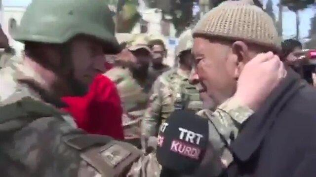 Afrinli Kürt amca gözyaşlarıyla PYD'ye isyan etti