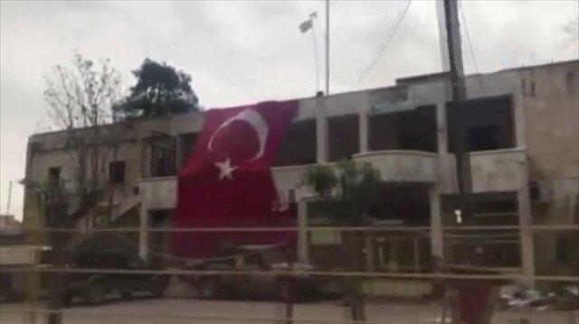 Teröristlerden temizlenen Cinderes görüntülendi
