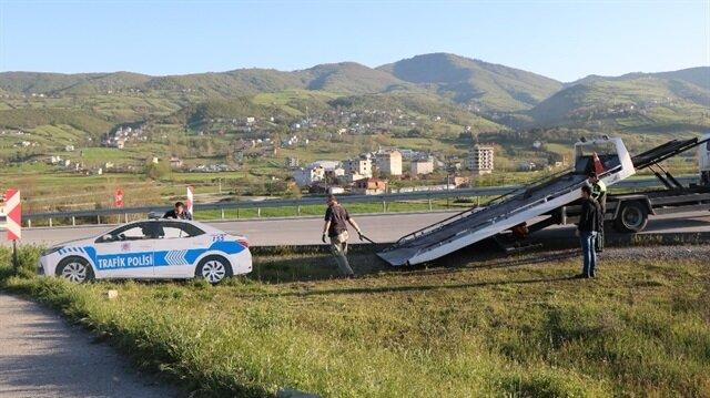 İkinci kez zarar verilen maket polis aracı kaldırıldı