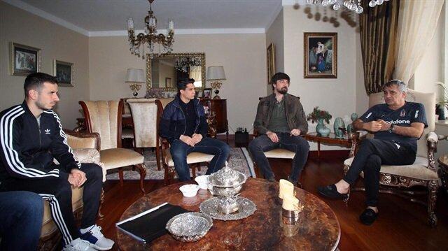 Beşiktaşlı futbolculardan Şenol Güneş'e ziyaret