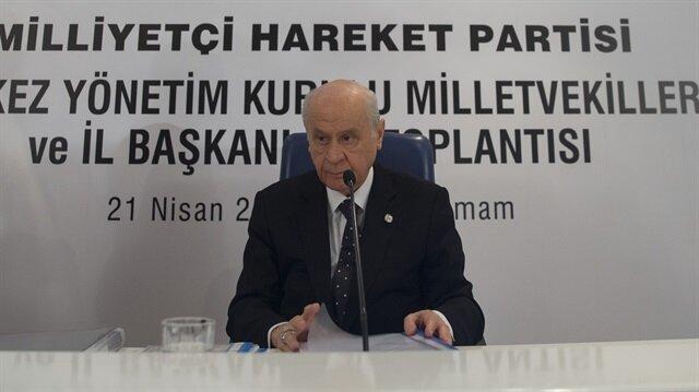 MHP Lideri Bahçeli seçim stratejisini açıkladı
