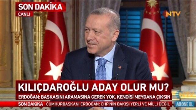 Cumhurbaşkanı Erdoğanı güldüren soru