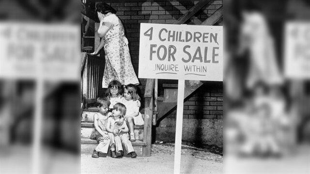 """""""Satılık 4 çocuk"""" fotoğrafının yürek burkan hikayesi"""