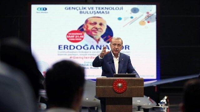 Cumhurbaşkanı Erdoğan, gzt.com'un sosyal medya özel yayınına katıldı
