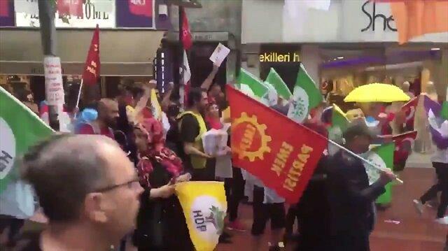 Muharrem İncenin Maltepe mitinginde HDP bayrakları