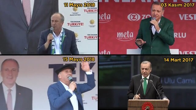 Muharrem İnce de Tayyip Erdoğanın izinden gidiyor