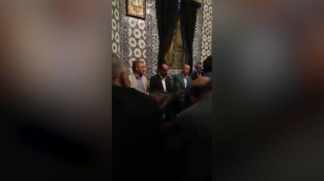 Cumhurbaşkanı Erdoğan Eyüp Sultanda Kuran-ı Kerim okudu