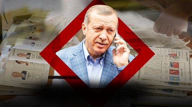Harita: Seçim gecesi Erdoğana gelen telefon