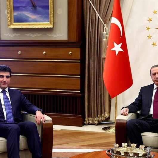 Cumhurbaşkanı Erdoğan IKBY Başbakanı Barzani ile görüştü